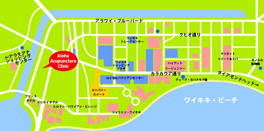 ワイキキのイメージマップ